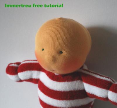 Immertreu Tutorial Puppen Srickmütze