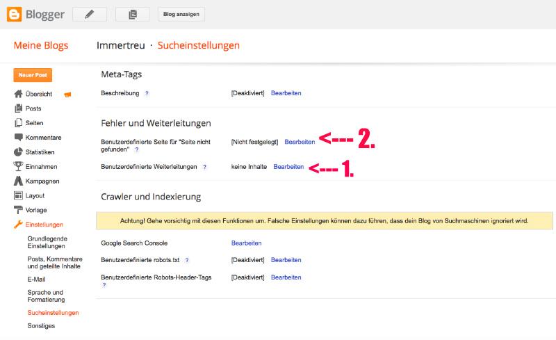 blogger-umleitung
